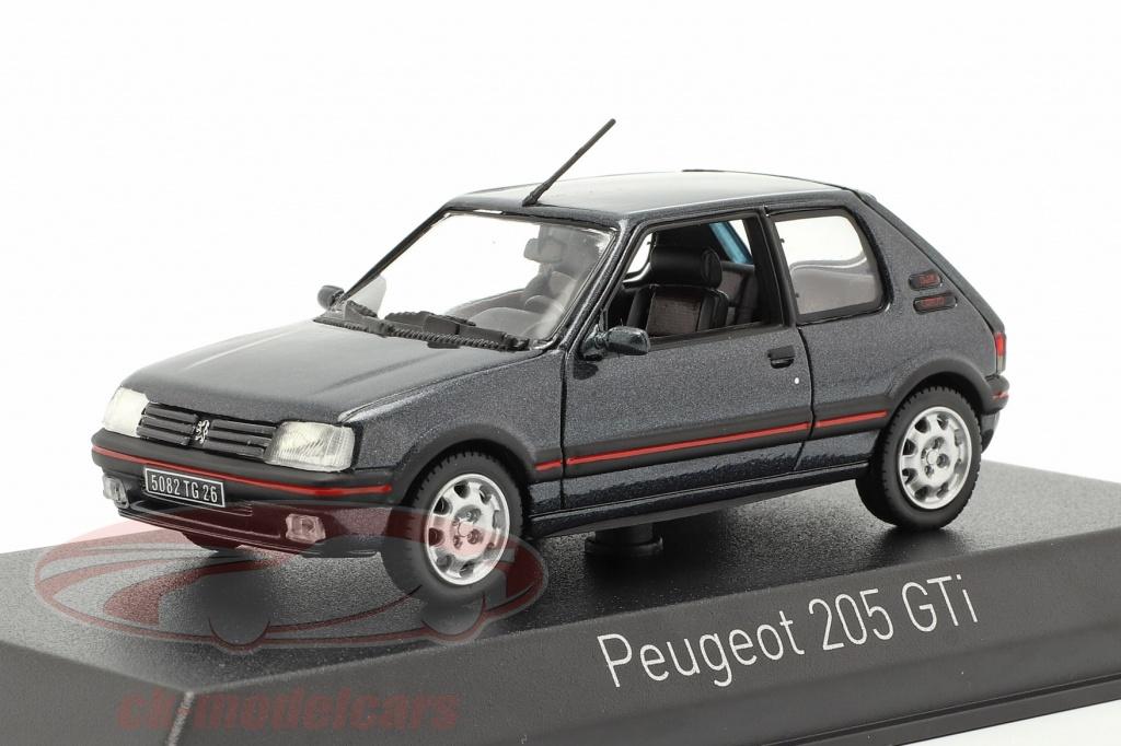 norev-1-43-peugeot-205-gti-19-ano-de-construccion-1992-gris-oscuro-metalico-471714/