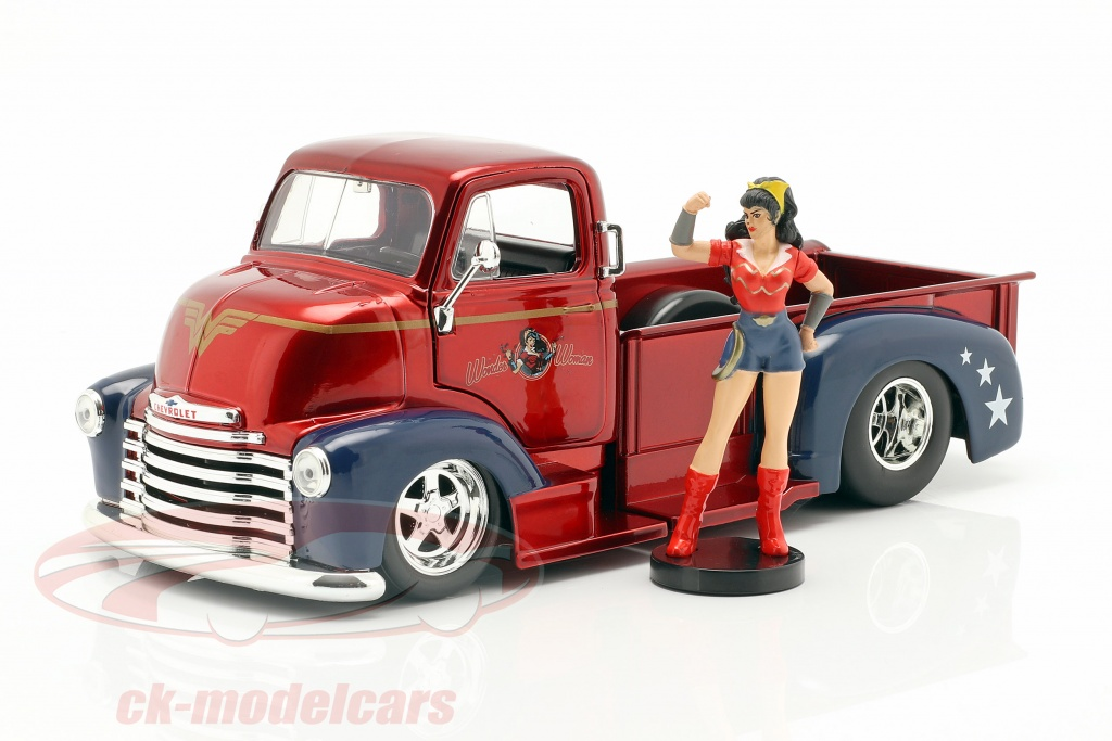 jadatoys-1-24-chevy-coe-pick-up-1952-with-figure-wonder-woman-dc-comics-253255010/