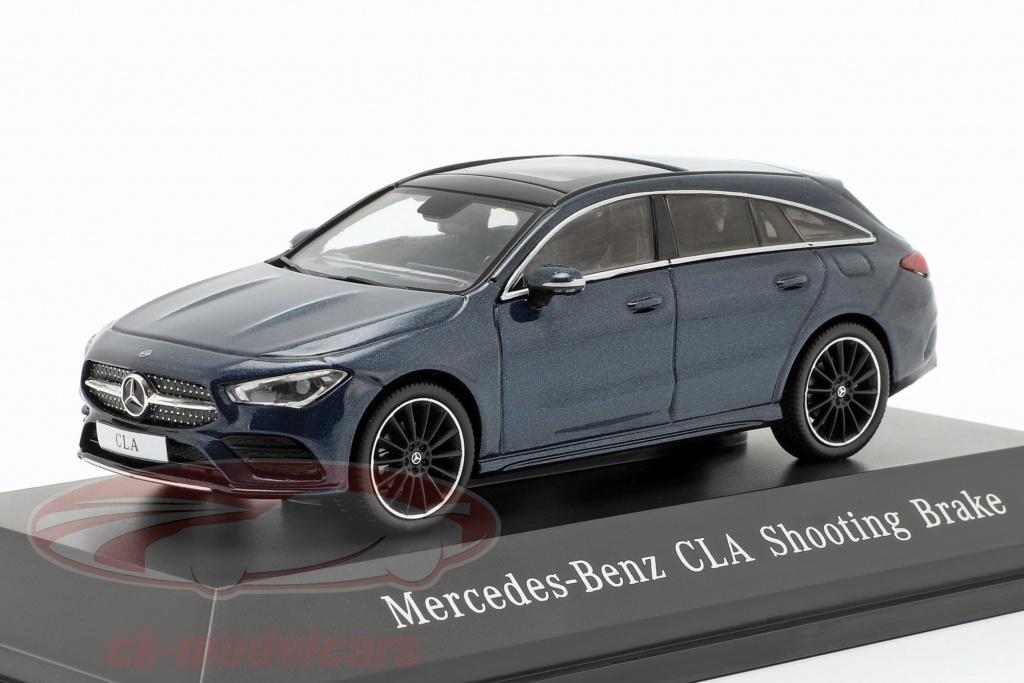 spark-1-43-mercedes-benz-cla-shooting-brake-x118-bouwjaar-2019-denim-blauw-b66960475/