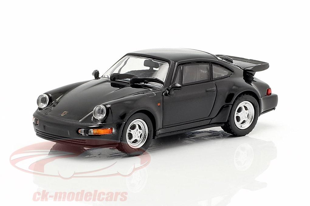 minichamps-1-87-porsche-911-turbo-964-year-1990-black-870069104/