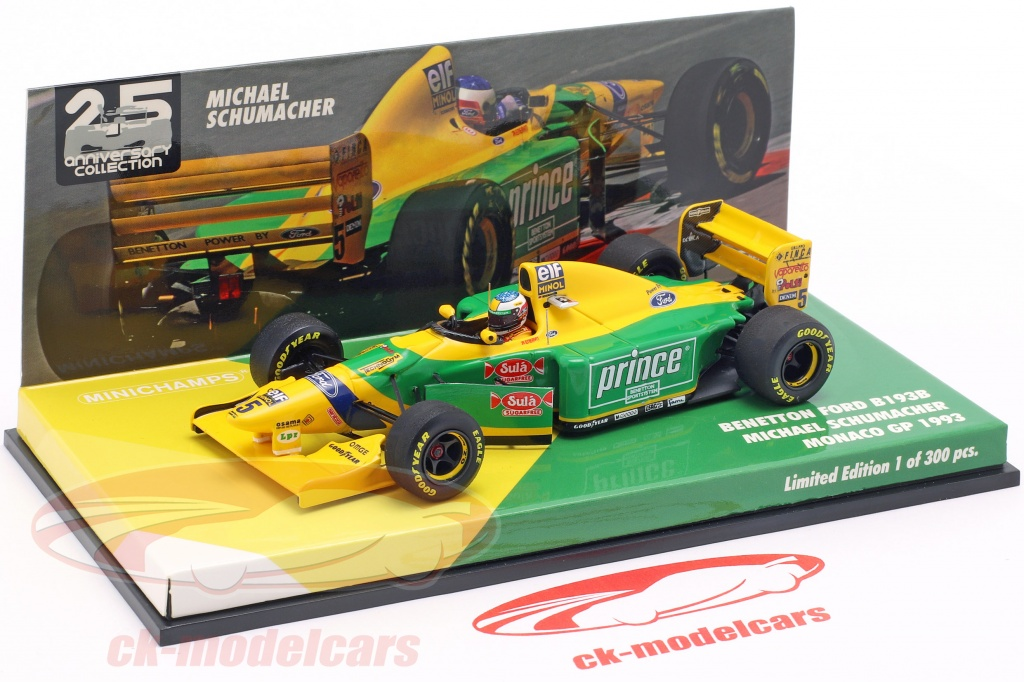 Minichamps formel 1-1:43 Michael Schumacher BENETTON