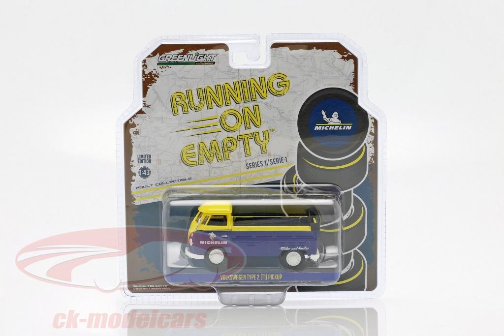 greenlight-1-43-volkswagen-vw-type-2-t1-michelin-pick-up-blue-yellow-87010e/