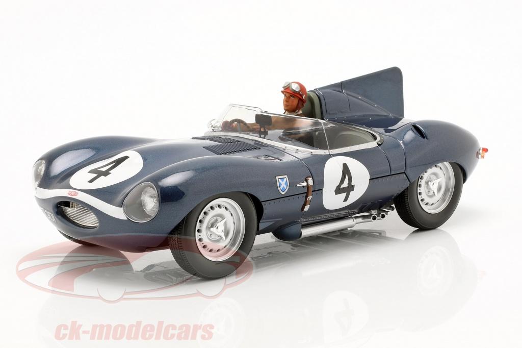 cmr-1-18-set-jaguar-d-type-no4-vinder-24h-lemans-1956-med-chauffr-figur-cmr142-ae180179/