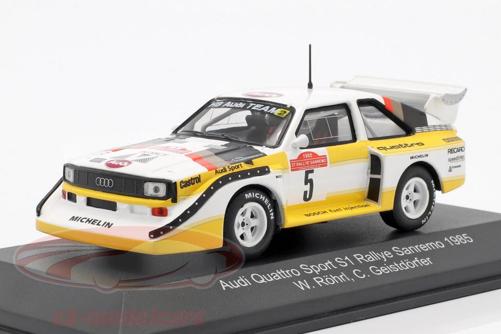 Audi Sport Quattro E2 1985 Röhrl Rally Sanremo 1:43 RALLYE MODELLAUTO MAR04