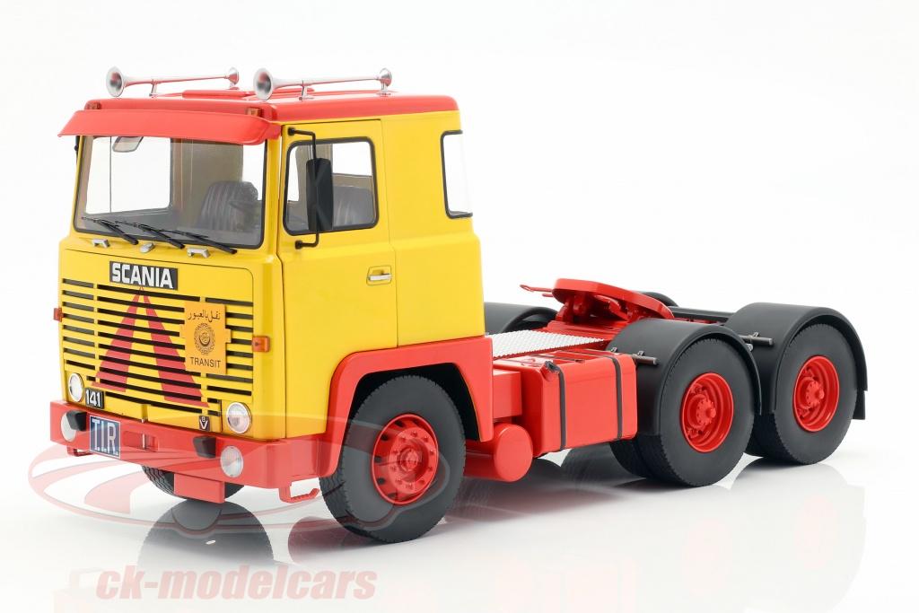 road-kings-1-18-scania-lbt-141-tracteur-annee-de-construction-1976-jaune-rouge-rk180015/