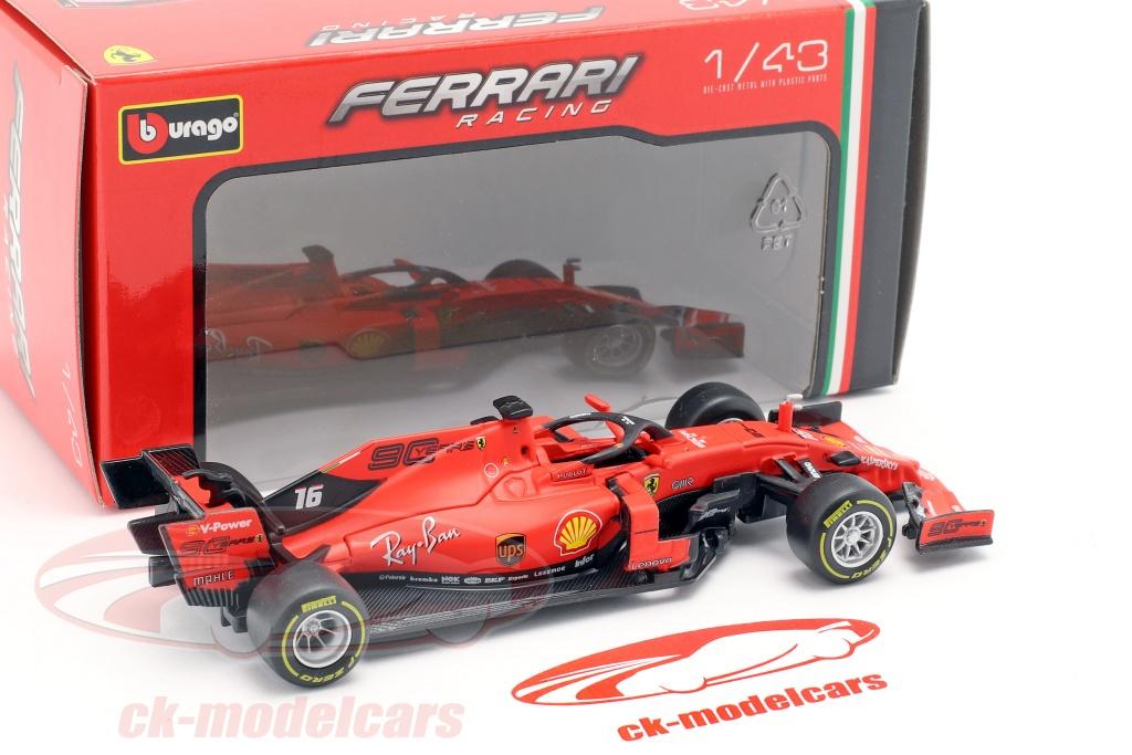 Charles Leclerc 1//43 Scale Bburago Ferrari SF90 F1 #16 2019 F1 Die-Cast Model