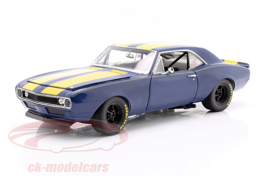 gmp-1-18-chevrolet-trans-am-camaro-1967-blue-yellow-18909-b-18901/
