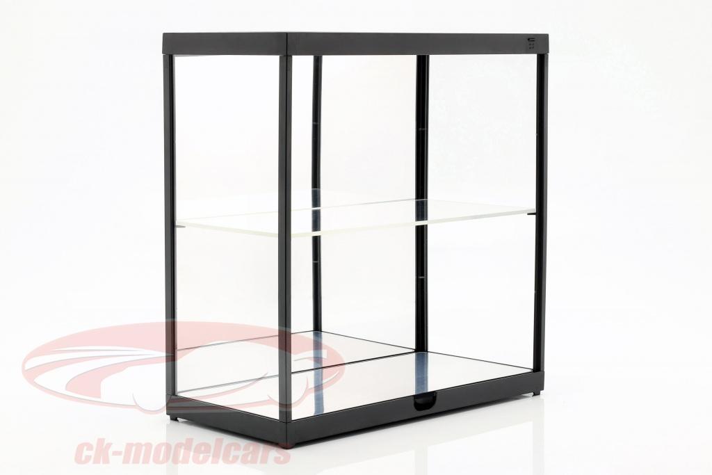 dubbele-showcase-met-led-verlichting-voor-modelautono39s-in-schaal-1-18-zwart-triple9-t9-187820mbk/