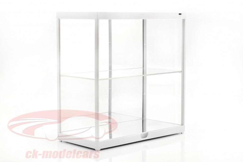 dubbele-showcase-met-led-verlichting-voor-modelautono39s-in-schaal-1-18-wit-triple9-t9-187820mw/