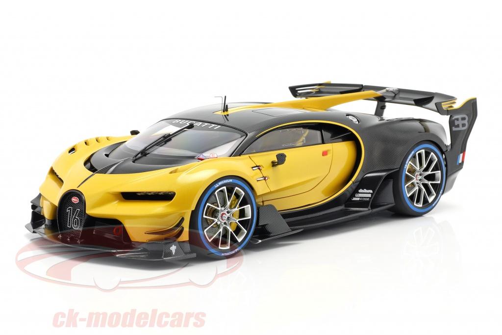 autoart-1-18-bugatti-vision-gt-opfrselsr-2015-midas-gul-carbon-sort-70989/