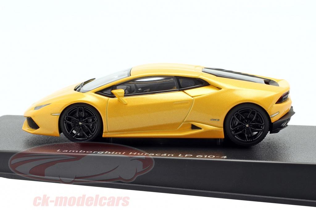 Lamborghini brochure lp610-4 año de fabricación 2014 amarillo metalizado 1:43 Altaya