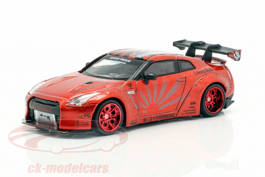 true-scale-1-64-lb-works-nissan-g-tr-r35-lhd-candy-rot-mgt00077-l/