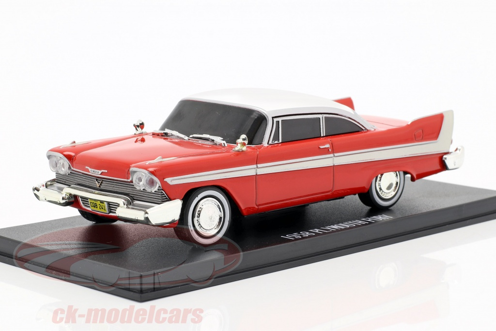 greenlight-1-43-plymouth-fury-1958-evil-version-film-christine-1983-rot-weiss-dunkle-fenster-86575/