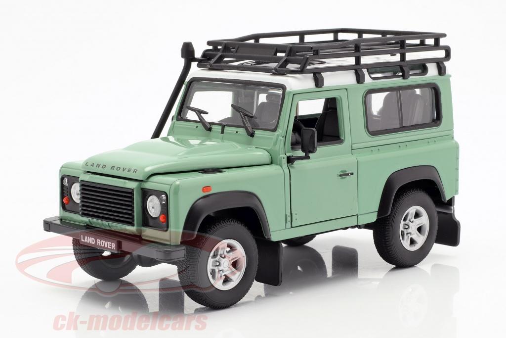 welly-1-24-land-rover-defender-con-tejado-estante-verde-blanco-22498spgnw/