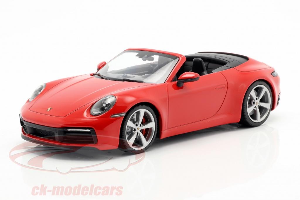 minichamps-1-18-porsche-911-992-carrera-4s-cabriole-ano-de-construcao-2019-vermelho-155067331/
