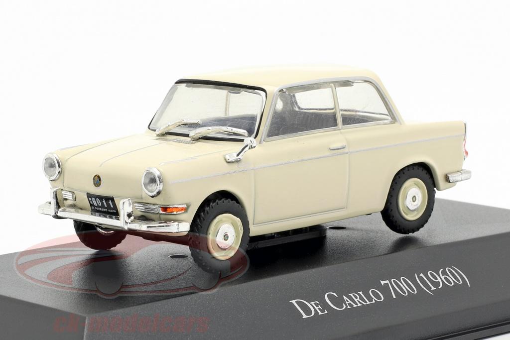 altaya-1-43-bmw-de-carlo-700-opfrselsr-1960-creme-hvid-mag-arg34/