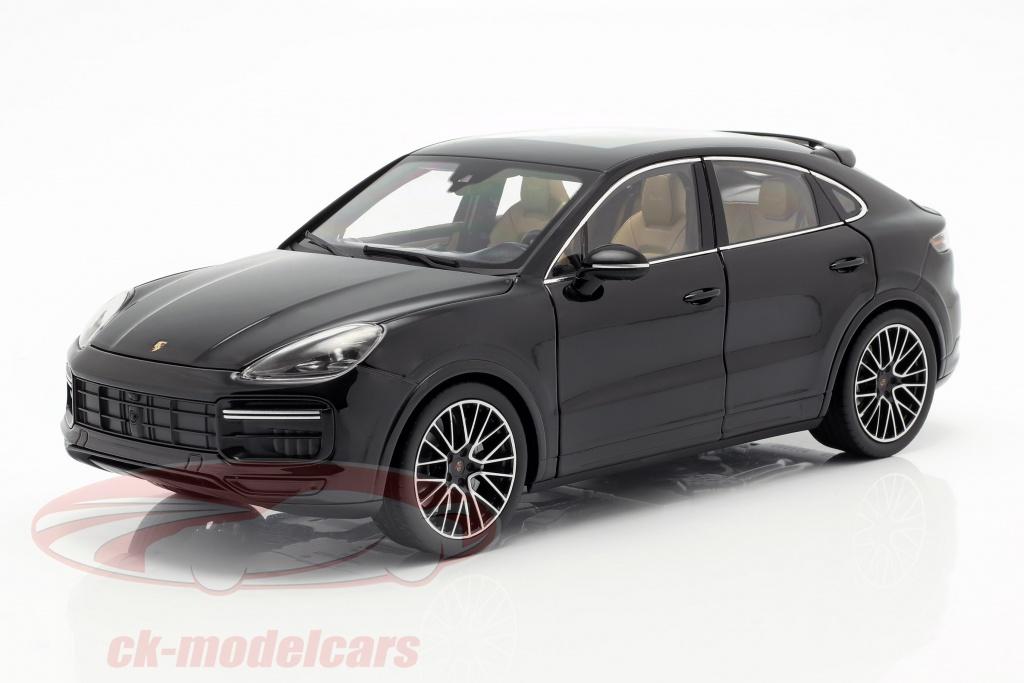 norev-1-18-porsche-cayenne-turbo-coupe-2019-dyb-sort-metallisk-med-udstillingsvindue-wap0213200k/