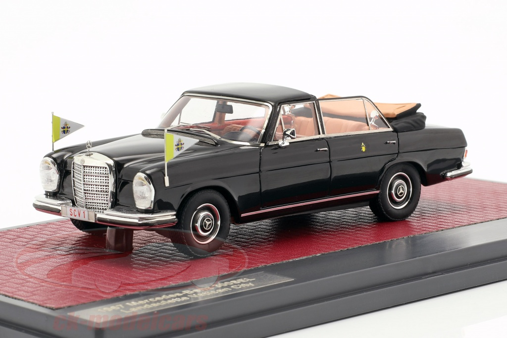matrix-1-43-mercedes-benz-300sel-landaulette-vatikanet-by-open-top-1967-sort-mx41302-061/