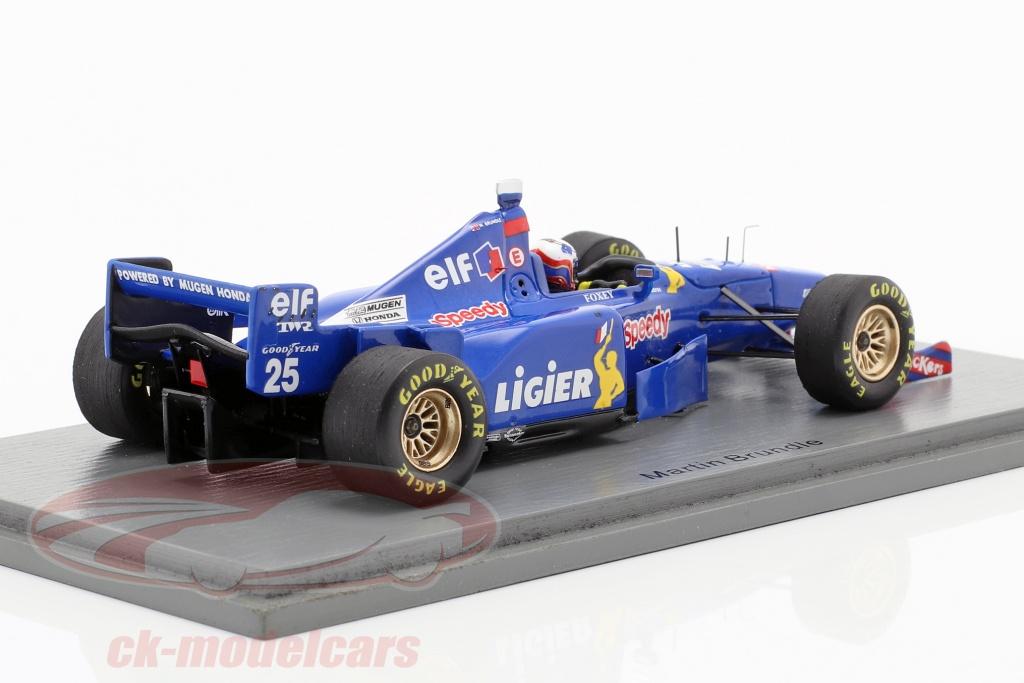 Ligier JS41 Mugen-Honda Martin Brundle Formel 1 Frankreich 1995 1:43 Spark 7411