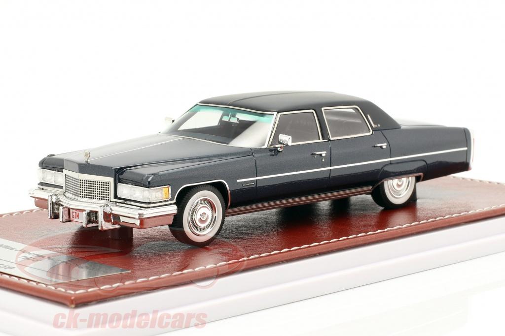 great-iconic-models-1-43-cadillac-fleetwood-brougham-baujahr-1976-blau-metallic-gim017a/