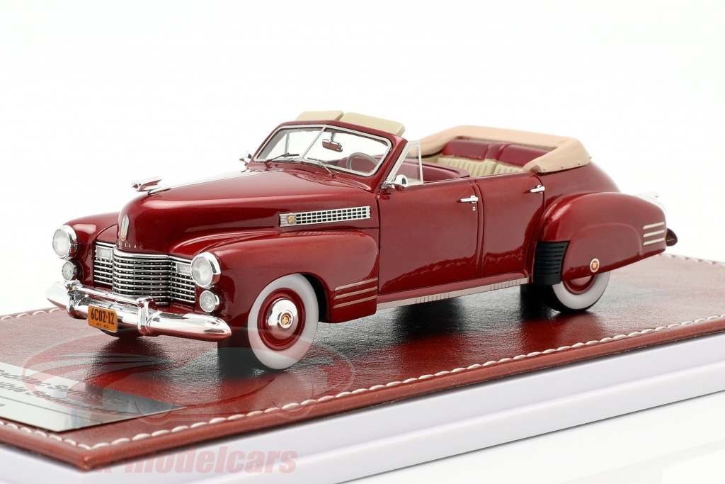 great-iconic-models-1-43-cadillac-series-62-cabriolet-sedan-open-top-1941-rdbrun-metallisk-gim021a/