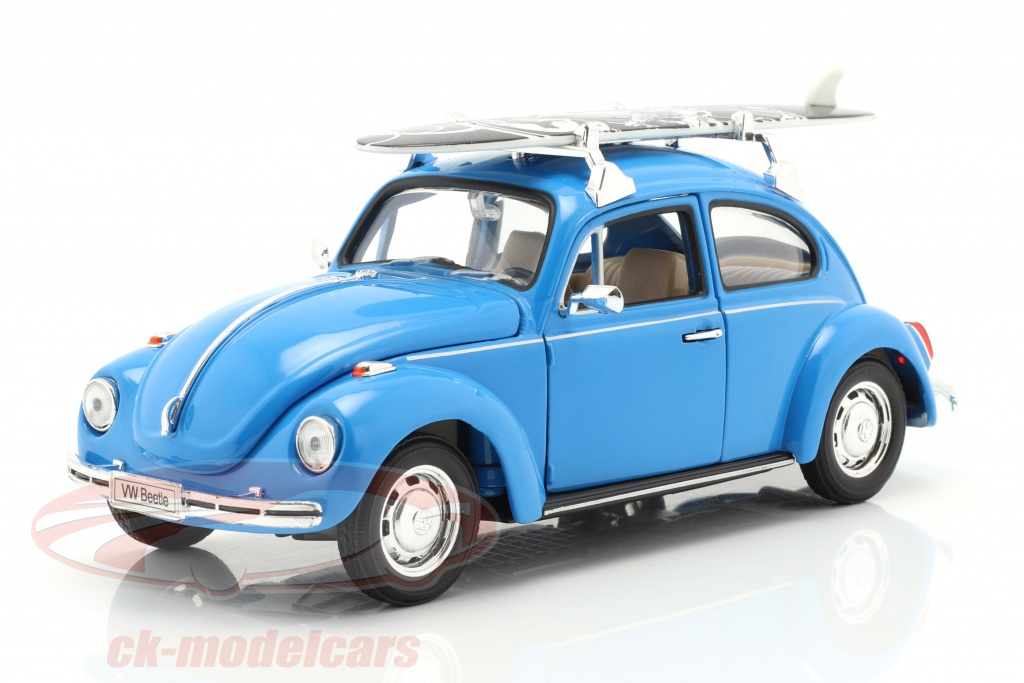 welly-1-24-volkswagen-vw-beetle-hard-top-1959-blue-with-black-surfboard-22436sb/