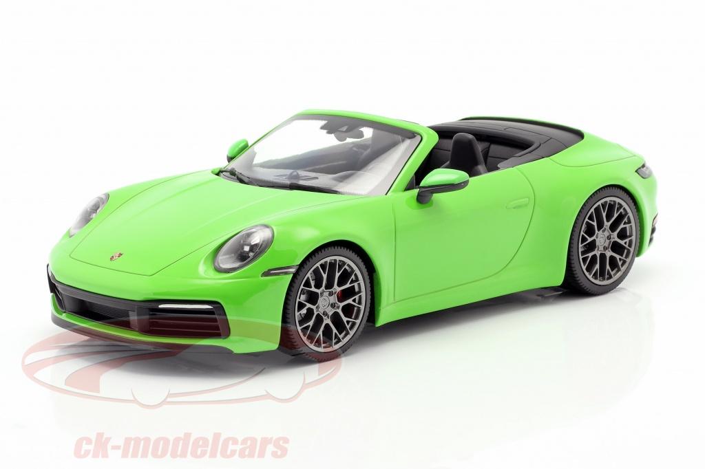 minichamps-1-18-porsche-911-992-carrera-4s-cabriolet-year-2019-lizard-green-wap0211730lm6b/