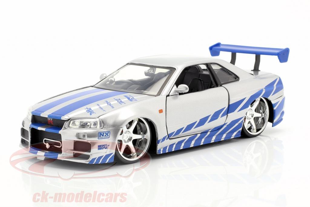 Brian/'s Nissan Skyline GT-R r34 película 2 fast 2 Furious 2003 1:24 jada Toys