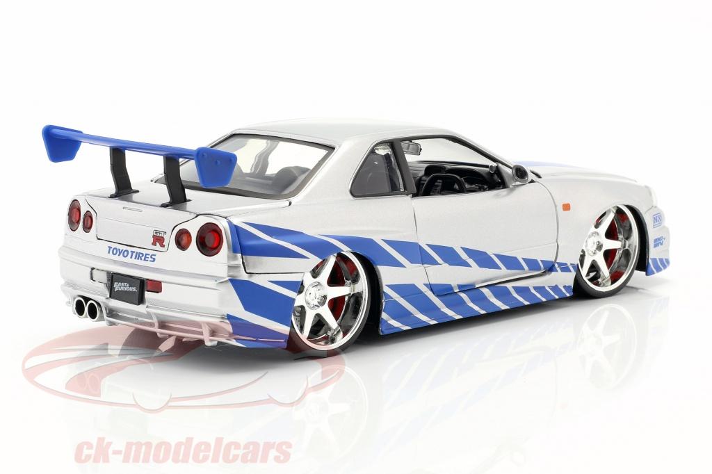 Jadatoys 1 24 Brian S Nissan Skyline Gt R R34 Movie 2 Fast 2 Furious 2003 97158 Model Car 97158 253203044 801310971581 4006333070594