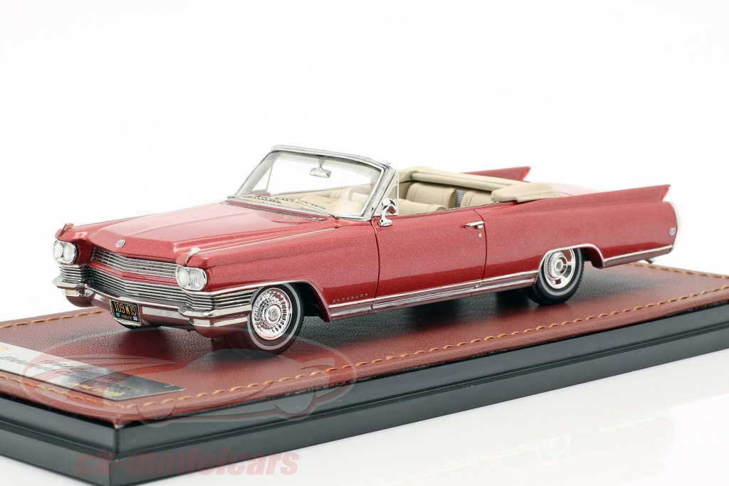 great-lighting-models-1-43-cadillac-eldorado-convertible-open-top-year-1964-red-metallic-glm124601/