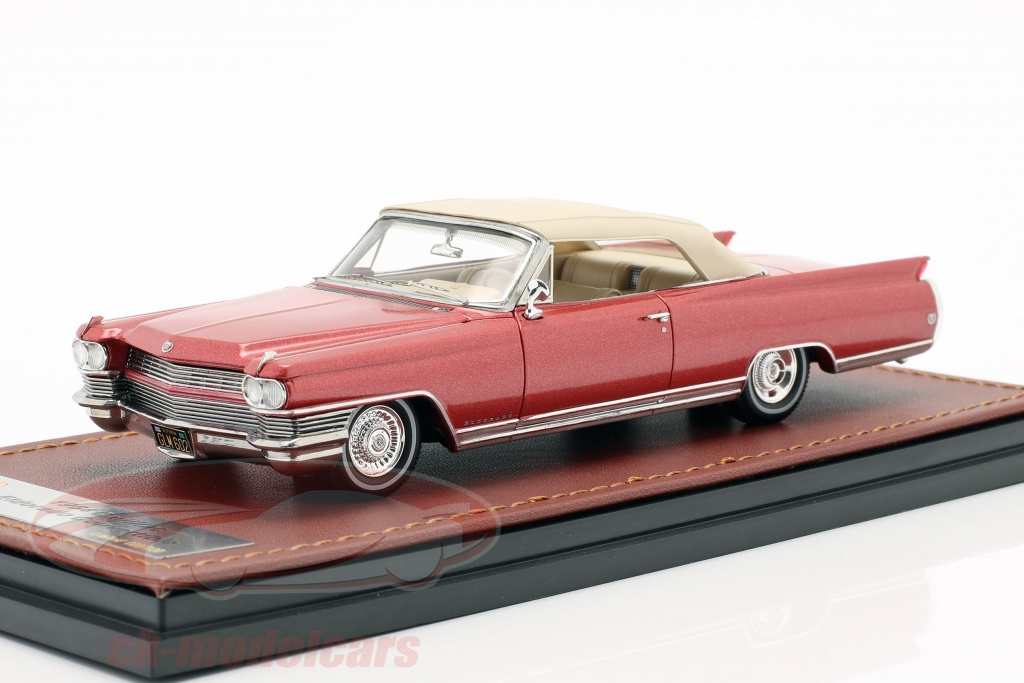 great-lighting-models-1-43-cadillac-eldorado-convertible-closed-top-year-1964-red-metallic-glm124602/