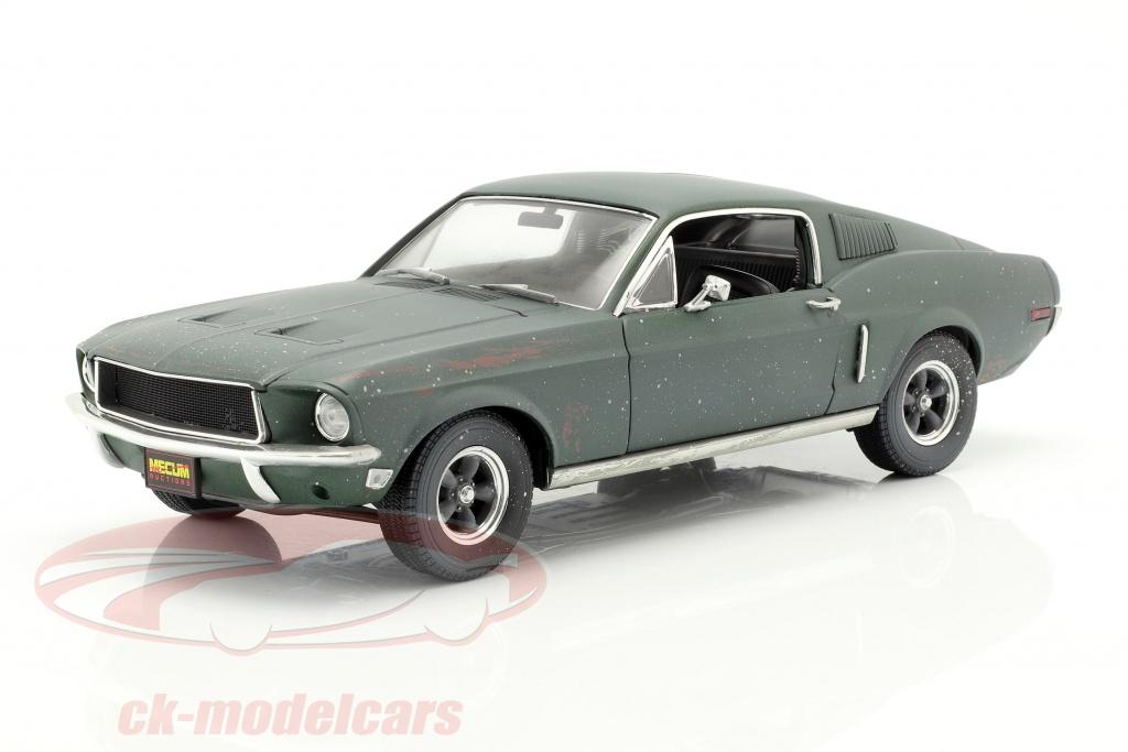 greenlight-1-18-ford-mustang-gt-fastback-unrestored-steve-mcqueen-movie-bullitt-1968-green-13551/