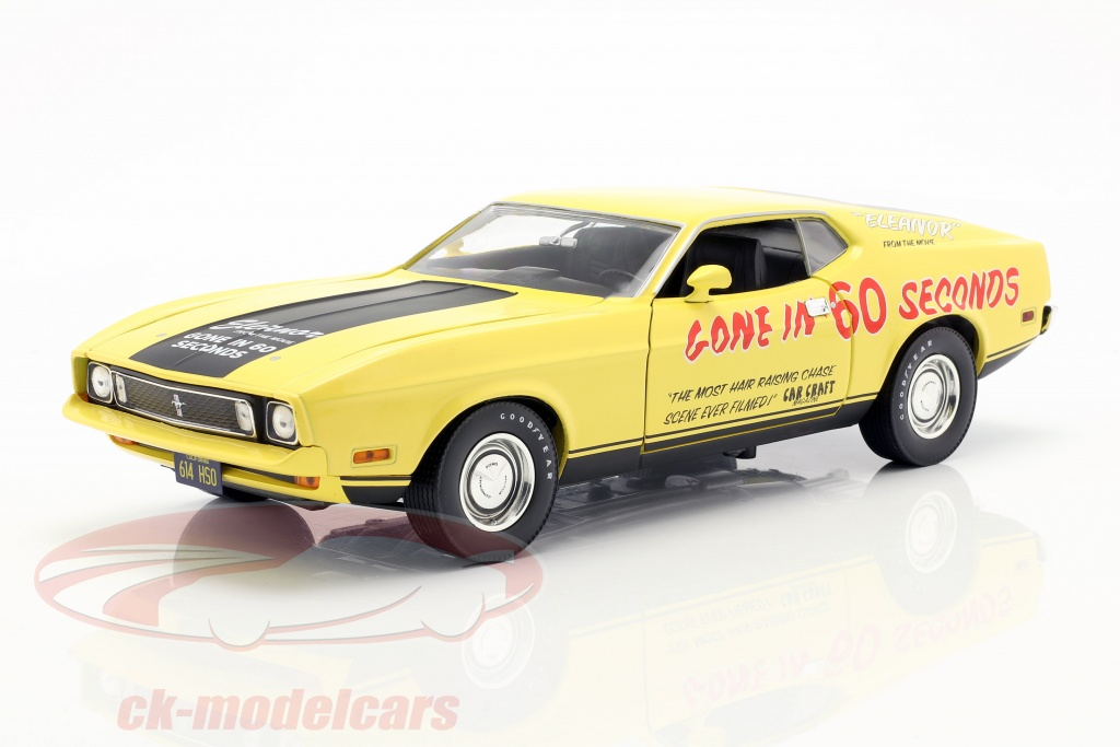 greenlight-1-18-ford-mustang-mach-1-eleanor-filme-gone-in-60-seconds-1974-amarelo-13548/