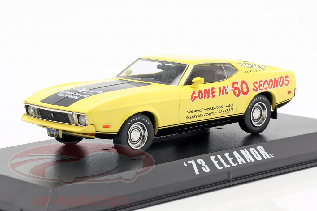 greenlight-1-43-ford-mustang-mach-1-eleanor-film-gone-in-60-seconds-1974-giallo-86571/