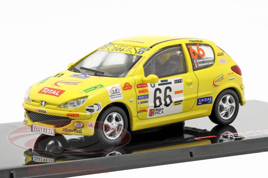 ixo-1-43-peugeot-206-xs-no66-rallye-terre-de-provence-2006-ogier-ingrassia-ram698/