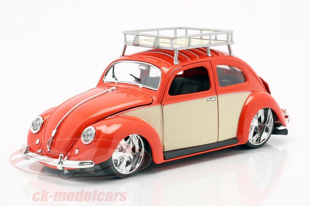 maisto-1-18-volkswagen-vw-scarafaggio-anno-di-costruzione-1951-rosso-crema-bianco-32614/