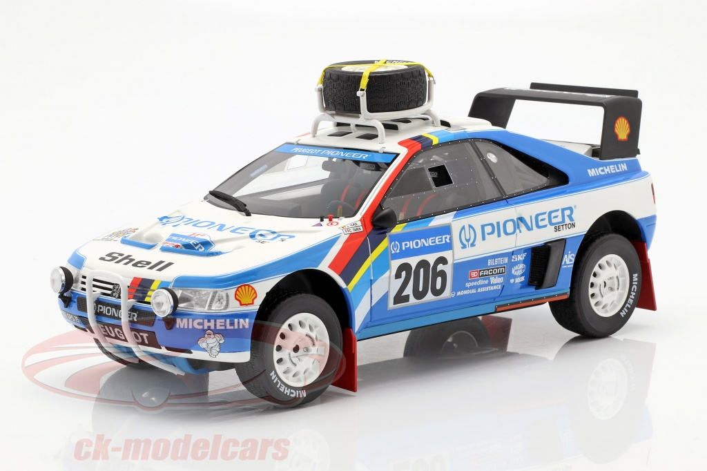 ottomobile-1-18-peugeot-405-t16-no206-2-rallye-paris-dakar-1989-ickx-tarin-ot876/