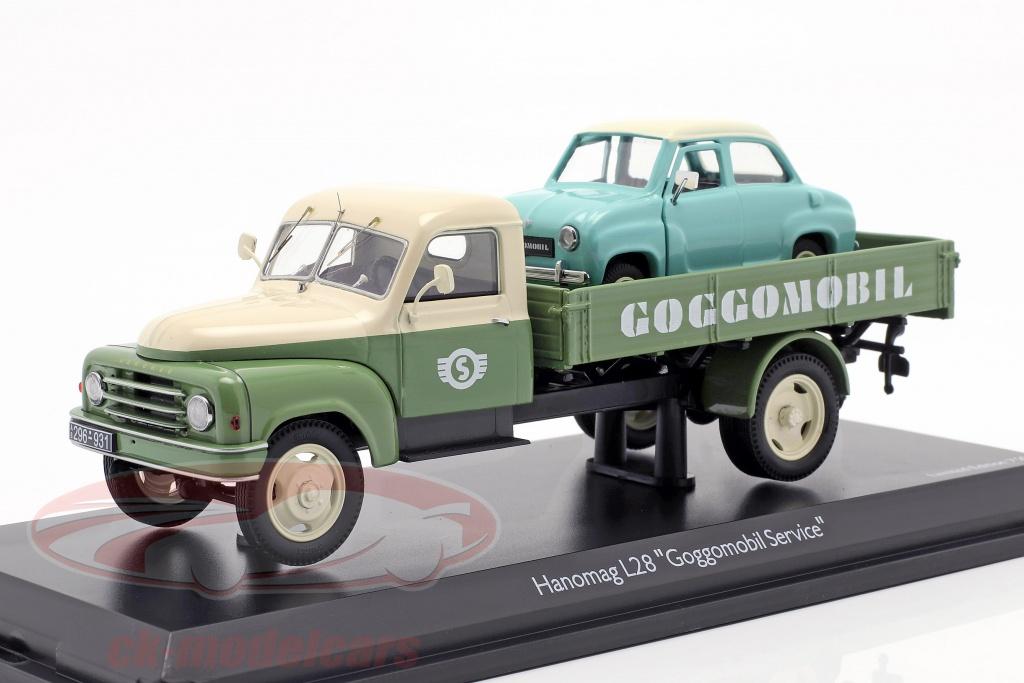 schuco-1-43-hanomag-l28-pritsche-goggomobil-service-vert-beige-450293800/