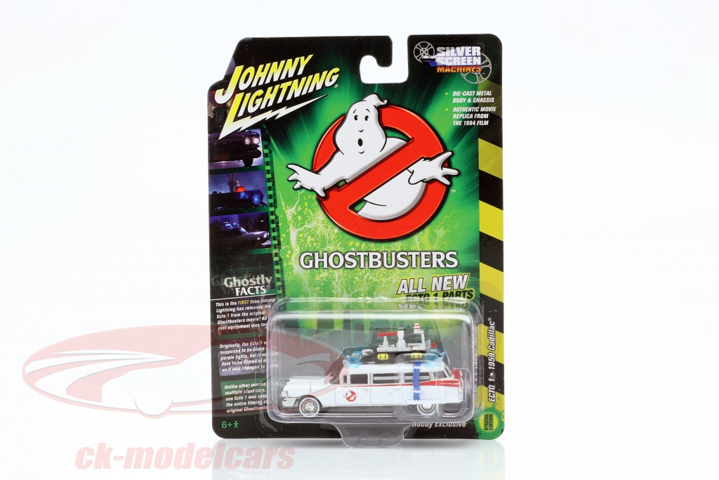 johnnylightning-1-64-cadillac-ambulance-ecto-1-1959-film-ghostbusters-1984-wit-johnny-lightning-jlss006/