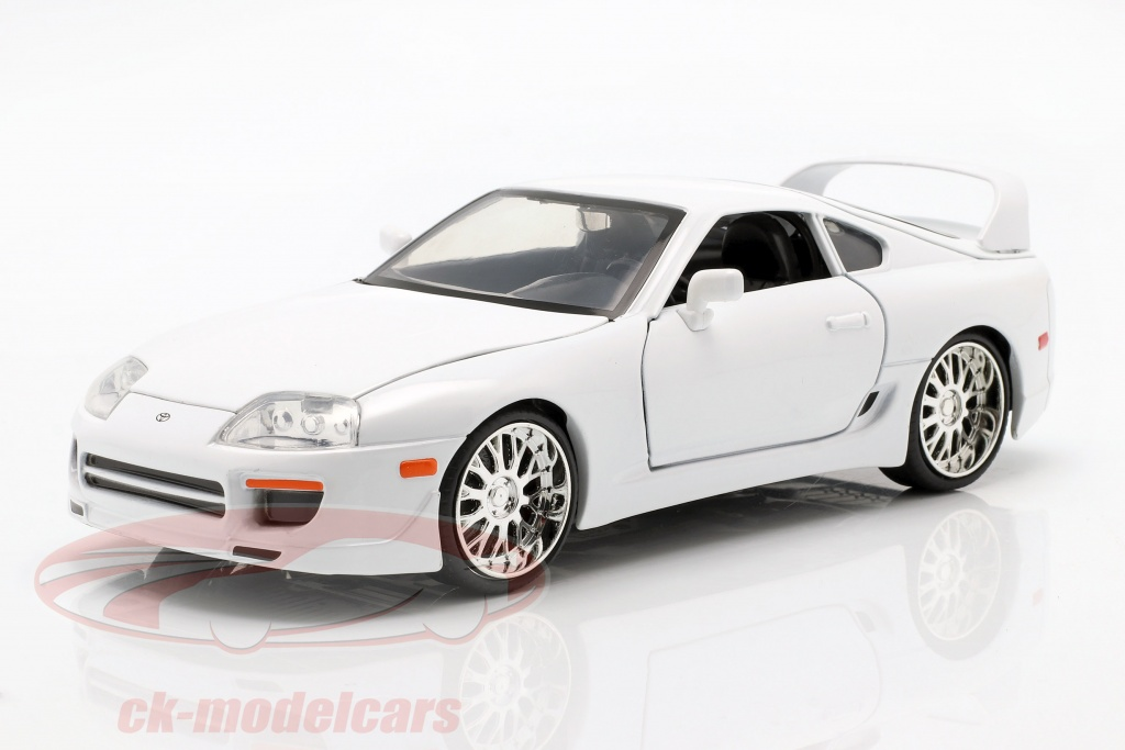 jadatoys-1-24-brians-toyota-supra-from-the-movie-fast-and-furious-7-2015-white-97375/