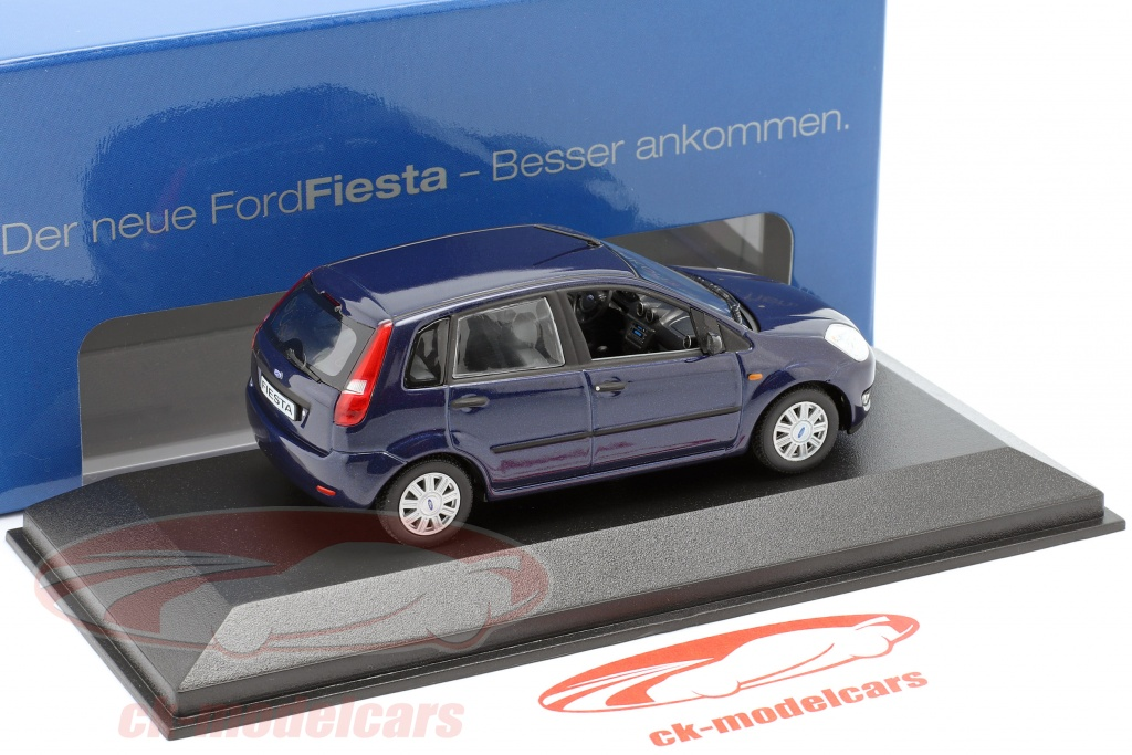 Ford Fiesta MK5 2002 Blau 1:43 Minichamps Diecast Model Car Modellauto 109