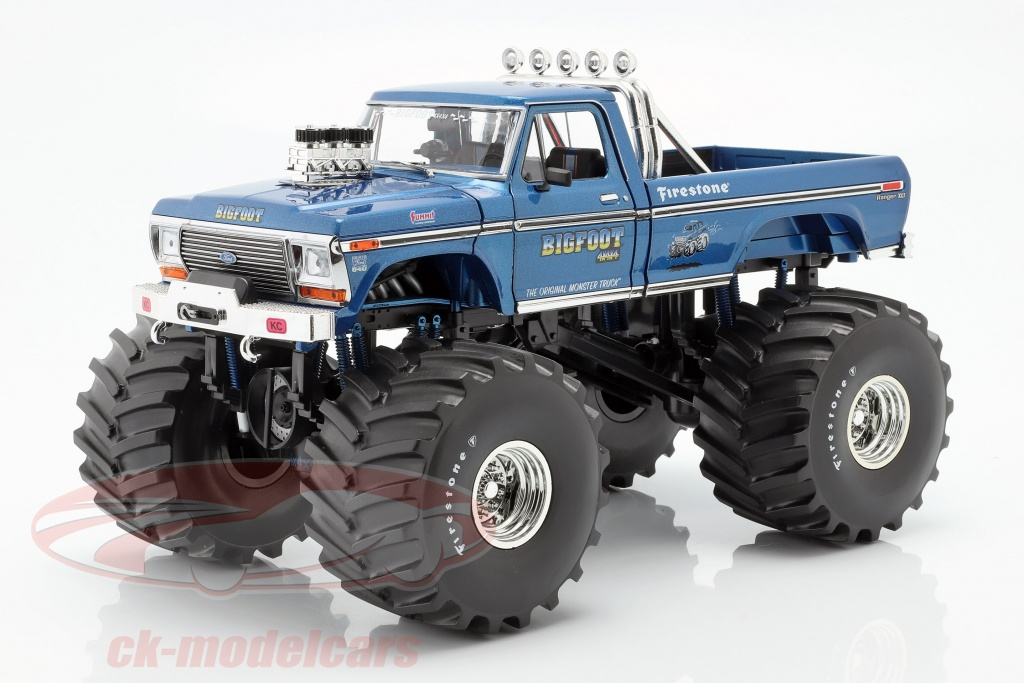 greenlight-1-18-ford-f-250-monster-truck-bigfoot-no1-66-inch-tires-1974-blau-13541/
