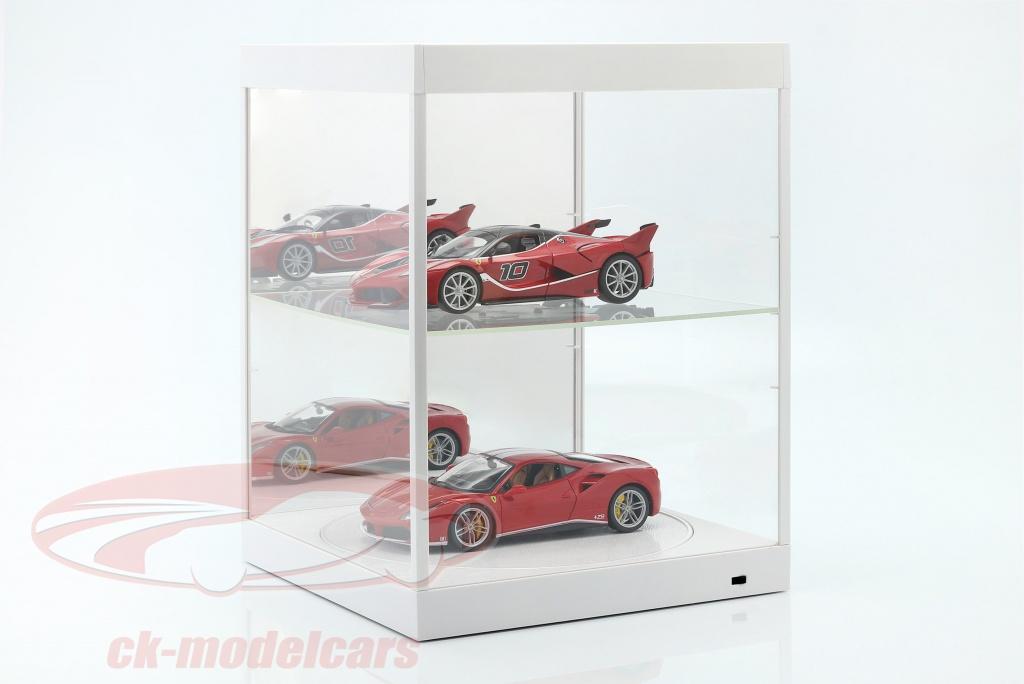 vitrine-met-led-verlichting-spiegel-en-draaischijf-voor-schaal-1-18-wit-triple9-t9-69929mw/