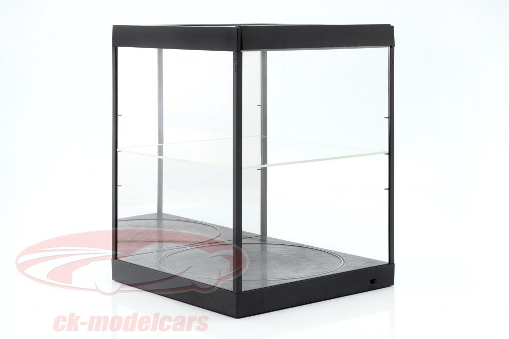 mostruario-com-iluminacao-led-espelho-e-mesa-giratoria-para-escala-1-18-preto-triple9-t9-69929mbk/