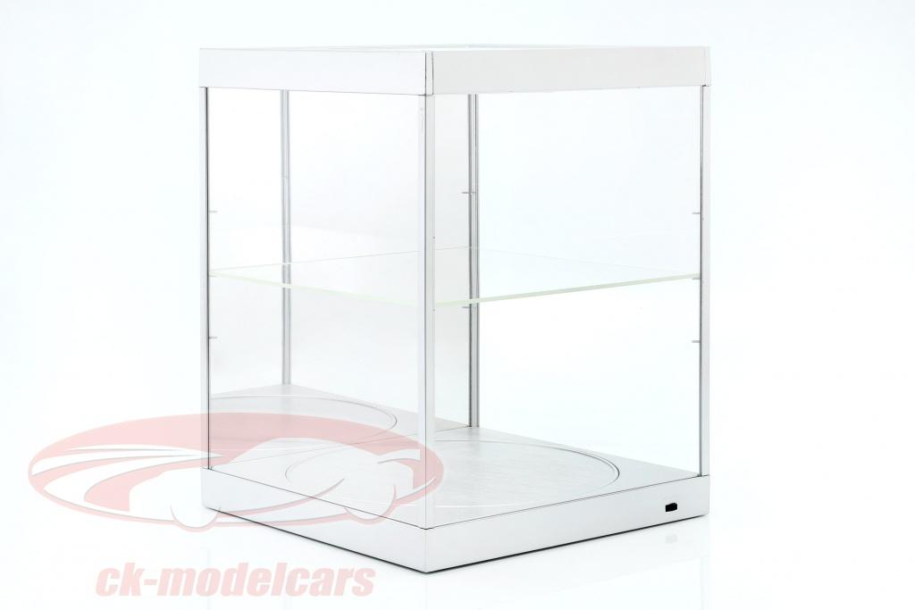 vitrine-met-led-verlichting-spiegel-en-draaischijf-voor-schaal-1-18-zilver-triple9-t9-69929ms/