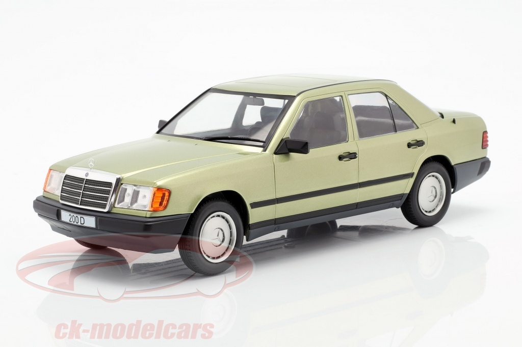 modelcar-group-1-18-mercedes-benz-200-d-w124-annee-de-construction-1984-lumiere-vert-metallique-mcg18205/