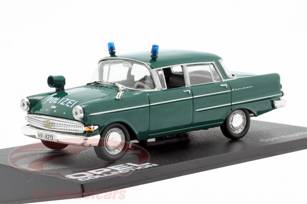 ixo-1-43-opel-kapitaen-pii-police-annee-1959-1964-sombre-vert-altaya-mag-hh095/
