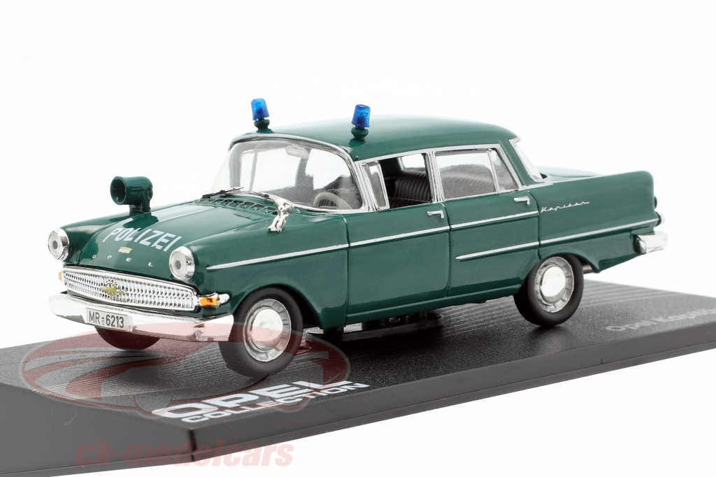 ixo-1-43-opel-kapitaen-pii-police-year-1959-1964-dark-green-altaya-mag-hh095/