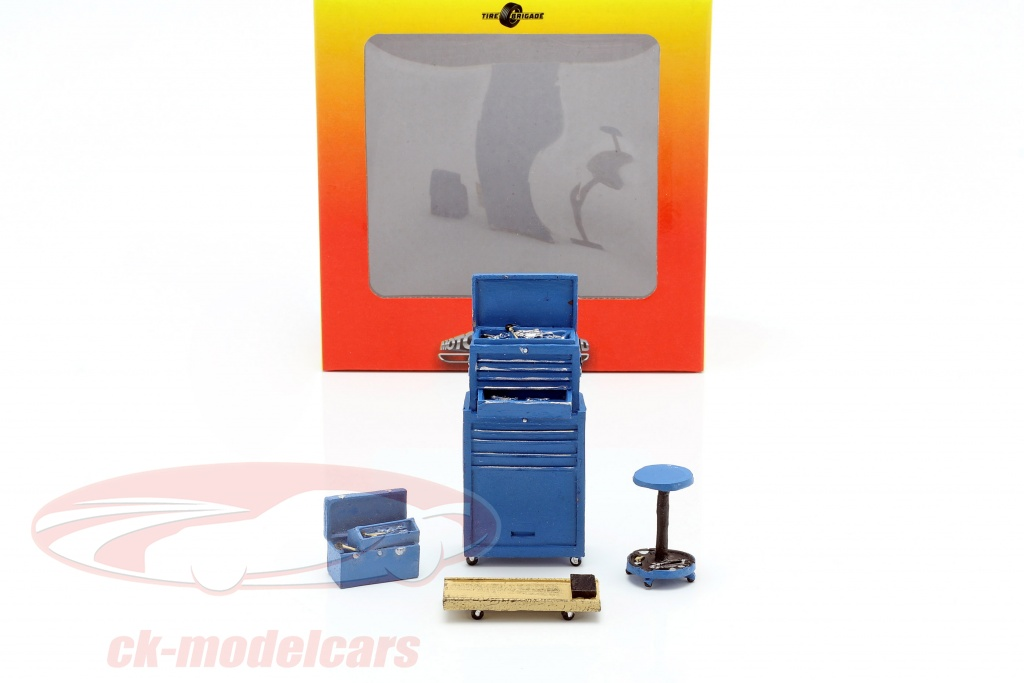 motorheadminiatures-1-18-tire-brigade-shop-4-piece-tool-set-azul-mhm190/