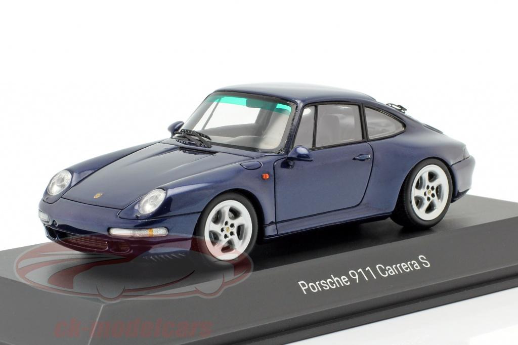 porsche-museum-1-43-porsche-911-carrera-s-993-ano-de-construccion-1997-cenit-azul-metalico-spark-map02003717/